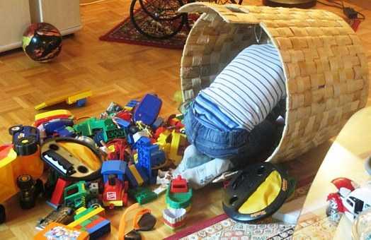 kosze na zabawki dla dzieci